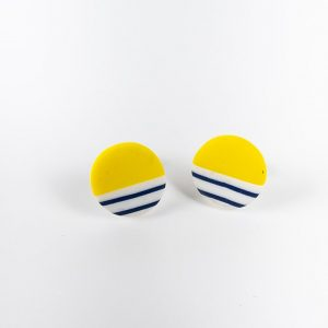 Clay studs by nadege Honey