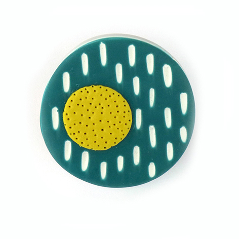 mid-century inspired brooch by nadege honey