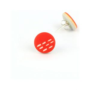 orange small stud earrings nadege honey