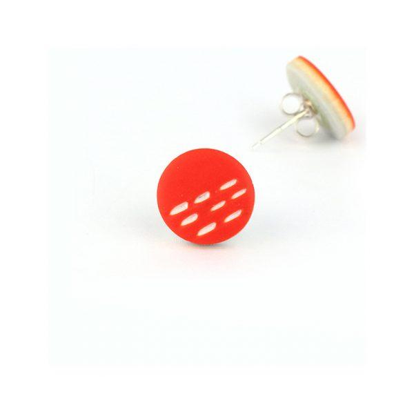 orange small stud earrings nadege honey
