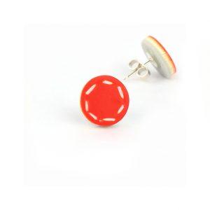colourful small stud earrings nadege honey