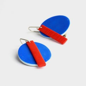 Oval statement earrings nadege honey