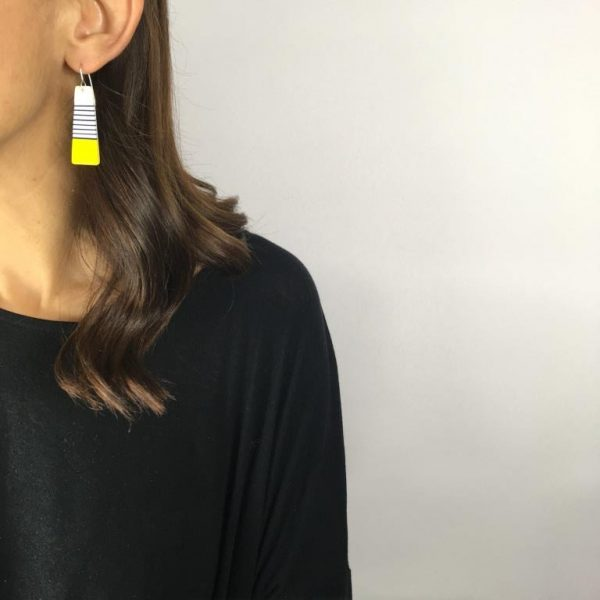Breton yellow earrings by Nadege Honey