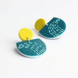 doodle earrings by nadege honey