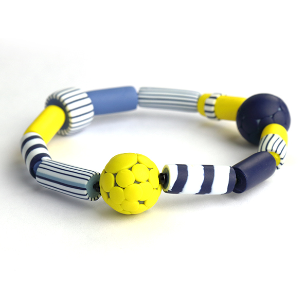 Breton bracelet yellow nadege honey