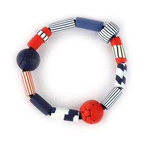 Red Breton bracelet by nadege honey