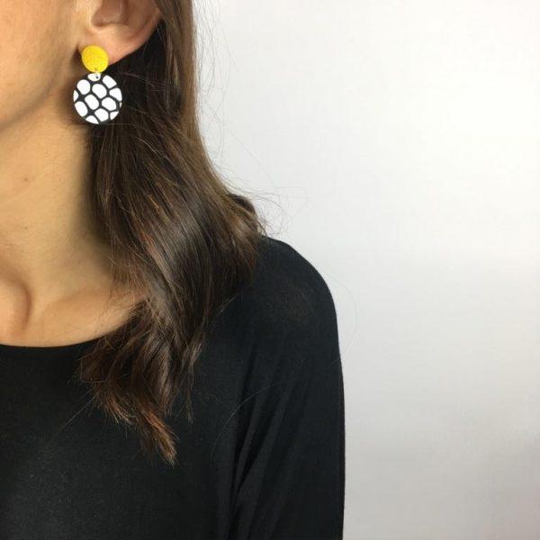 circle clay earrings nadege honey