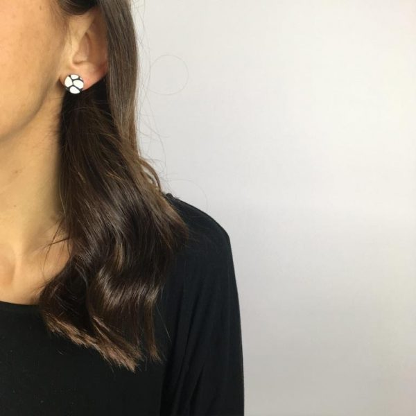 black and white stud earrings