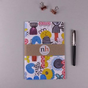 Notebook Abstract Blule Yellow by Nadege Honey
