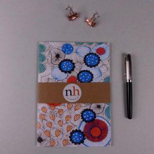 Notebook Floral Blue by Nadege Honey