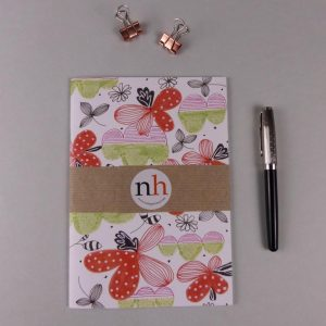 Notebook Floral red