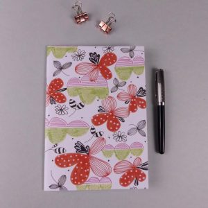 Notebook Floral red by nadege honey