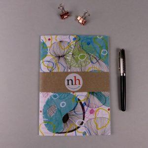 Notebook Pattern Blue by Nadege Honey