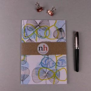 Notebook Pattern Blue Yellow