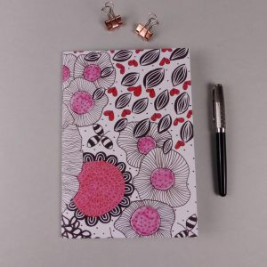 Notebook Pattern Pink by Nadege Honey