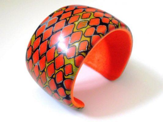 Polymer clay bracelet Nadege Honey