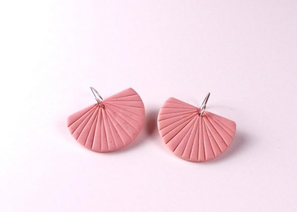 Pink Earrings by Nadege Honey