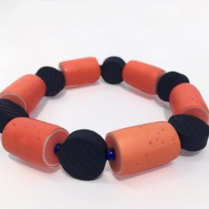 polymer clay bracelet by nadege hhoney