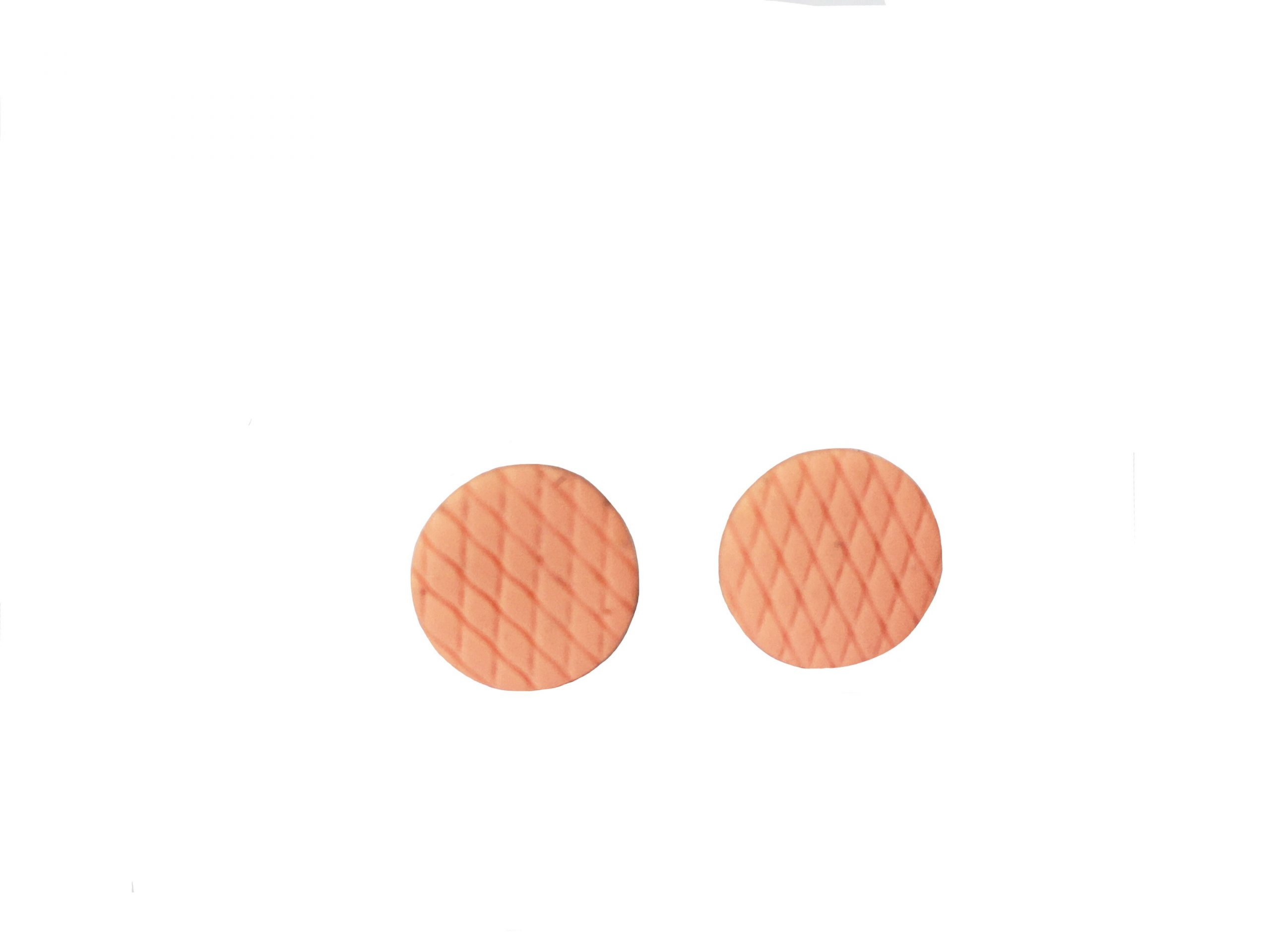 polymer clay studs by nadege honey